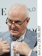 Купить «Spanish designer Manolo Blahnik poses during 'The Art of Shoe' exhibition at the National Museum of Decorative Arts in Madrid, Spain. Featuring: Manolo...», фото № 29985807, снято 27 ноября 2017 г. (c) age Fotostock / Фотобанк Лори