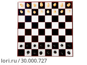 Купить «Black and white chess pieces standing », фото № 30000727, снято 28 февраля 2012 г. (c) Wavebreak Media / Фотобанк Лори