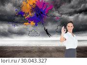 Купить «Composite image of elegant businesswoman showing an okay gesture», фото № 30043327, снято 11 ноября 2013 г. (c) Wavebreak Media / Фотобанк Лори