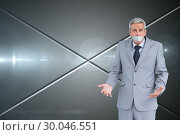 Composite image of businessman gagged with adhesive tape on mouth. Стоковое фото, агентство Wavebreak Media / Фотобанк Лори