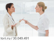 Купить «Businesswomen fighting in office», фото № 30049491, снято 3 ноября 2013 г. (c) Wavebreak Media / Фотобанк Лори