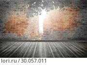 Купить «Splash on wall revealing city», фото № 30057011, снято 11 декабря 2013 г. (c) Wavebreak Media / Фотобанк Лори