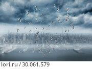 Купить «Composite image of silver numbers», фото № 30061579, снято 11 января 2014 г. (c) Wavebreak Media / Фотобанк Лори