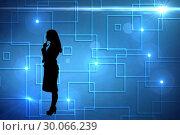 Купить «Composite image of black background with shiny squares», фото № 30066239, снято 11 января 2014 г. (c) Wavebreak Media / Фотобанк Лори