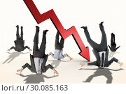 Купить «Composite image of businessmen burying their heads», фото № 30085163, снято 11 июня 2014 г. (c) Wavebreak Media / Фотобанк Лори