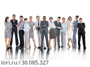 Купить «Composite image of business people», фото № 30085327, снято 11 июня 2014 г. (c) Wavebreak Media / Фотобанк Лори