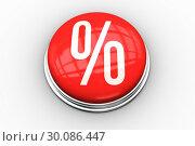 Купить «Composite image of percentage graphic on button», фото № 30086447, снято 16 июня 2014 г. (c) Wavebreak Media / Фотобанк Лори