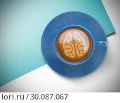 Купить «Composite image of brain», фото № 30087067, снято 27 июня 2014 г. (c) Wavebreak Media / Фотобанк Лори