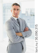 Купить «Businessman looking at the camera», фото № 30090315, снято 6 мая 2014 г. (c) Wavebreak Media / Фотобанк Лори