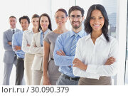 Купить «Business team with folded arms», фото № 30090379, снято 6 мая 2014 г. (c) Wavebreak Media / Фотобанк Лори