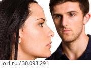 Купить «Couple not talking after argument», фото № 30093291, снято 2 июля 2014 г. (c) Wavebreak Media / Фотобанк Лори