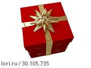 Купить «Christmas present with bow», фото № 30105735, снято 13 января 2015 г. (c) Wavebreak Media / Фотобанк Лори