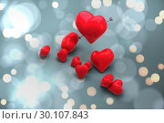 Купить «Composite image of love hearts», фото № 30107843, снято 20 января 2015 г. (c) Wavebreak Media / Фотобанк Лори