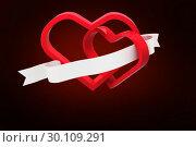 Купить «Composite image of linking hearts», фото № 30109291, снято 21 января 2015 г. (c) Wavebreak Media / Фотобанк Лори