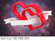 Купить «Composite image of linking hearts», фото № 30109351, снято 21 января 2015 г. (c) Wavebreak Media / Фотобанк Лори