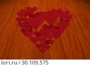 Купить «Composite image of love hearts», фото № 30109575, снято 21 января 2015 г. (c) Wavebreak Media / Фотобанк Лори