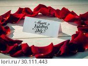 Купить «Composite image of happy valentines day», фото № 30111443, снято 23 января 2015 г. (c) Wavebreak Media / Фотобанк Лори