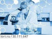 Купить «Composite image of science graphic», фото № 30111647, снято 27 апреля 2015 г. (c) Wavebreak Media / Фотобанк Лори