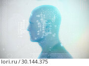 Composite image of digitally generated image of human representation 3D . Стоковое фото, агентство Wavebreak Media / Фотобанк Лори
