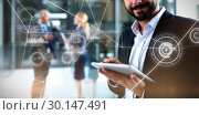Купить «Composite image of various graphs and connectivity points », фото № 30147491, снято 12 мая 2017 г. (c) Wavebreak Media / Фотобанк Лори