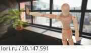Купить «Composite image of 3d image of wooden figurine gesturing», фото № 30147591, снято 12 мая 2017 г. (c) Wavebreak Media / Фотобанк Лори