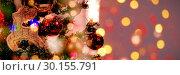 Купить «Composite image of defocused of christmas tree lights and fireplace», фото № 30155791, снято 18 ноября 2018 г. (c) Wavebreak Media / Фотобанк Лори