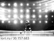 Купить «Composite image of player playing ice hockey», фото № 30157683, снято 15 ноября 2018 г. (c) Wavebreak Media / Фотобанк Лори