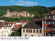 Купить «Heidelberg, Germany, Old Town and Heidelberg Castle », фото № 30159947, снято 7 июня 2017 г. (c) Caro Photoagency / Фотобанк Лори