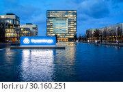 Купить «ThyssenKrupp Headquarters, Essen, Ruhr Area, North Rhine-Westphalia, Germany, Europe», фото № 30160251, снято 9 января 2019 г. (c) Caro Photoagency / Фотобанк Лори