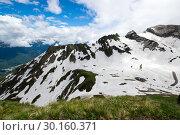 Купить «View of Caucasian mountains», фото № 30160371, снято 21 июня 2017 г. (c) Юлия Белоусова / Фотобанк Лори