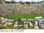 Купить «Byzantine amphitheater in ancient Olbius. Anatolia, Turkey», фото № 30177675, снято 8 ноября 2009 г. (c) Знаменский Олег / Фотобанк Лори