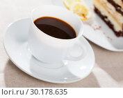 Купить «Coffee with chocolate dessert», фото № 30178635, снято 18 марта 2019 г. (c) Яков Филимонов / Фотобанк Лори