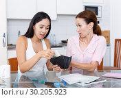 Купить «Girl trying ask money», фото № 30205923, снято 9 июля 2018 г. (c) Яков Филимонов / Фотобанк Лори