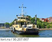Купить «Ehrensvard Ferry in Katajanokka port. Helsinki, Suomi», фото № 30207007, снято 18 июля 2018 г. (c) Валерия Попова / Фотобанк Лори
