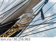 Купить «Носовая фигура клипера «Катти Сарк» (Cutty Sark), Лондон», эксклюзивное фото № 30216963, снято 25 июля 2006 г. (c) Давид Мзареулян / Фотобанк Лори