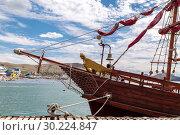 Купить «Image with a sailing vessel», фото № 30224847, снято 8 июля 2017 г. (c) Ирина Толокновская / Фотобанк Лори