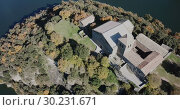 Купить «Aerial view of Sant Pere de Casserres - Benedictine monastery in Spain», видеоролик № 30231671, снято 16 ноября 2018 г. (c) Яков Филимонов / Фотобанк Лори