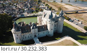 Famous medieval castle Sully-sur-Loire, Loire valley, France (2018 год). Редакционное видео, видеограф Яков Филимонов / Фотобанк Лори