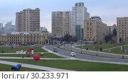 Купить «Современный Баку январским вечером. Азербайджан», видеоролик № 30233971, снято 5 января 2018 г. (c) Виктор Карасев / Фотобанк Лори