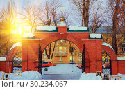 Купить «The Holy Resurrection Monastery is a functioning monastery of the Russian Orthodox Church.», фото № 30234067, снято 10 февраля 2016 г. (c) Акиньшин Владимир / Фотобанк Лори