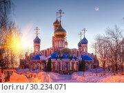Купить «The Holy Resurrection Monastery is a functioning monastery of the Russian Orthodox Church.», фото № 30234071, снято 10 февраля 2016 г. (c) Акиньшин Владимир / Фотобанк Лори