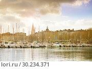 Купить «Marina in Downton of La Rochelle, west France», фото № 30234371, снято 2 декабря 2017 г. (c) Сергей Новиков / Фотобанк Лори