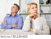 Купить «Mature couple quarrels», фото № 30234603, снято 10 июля 2019 г. (c) Яков Филимонов / Фотобанк Лори