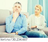Купить «Mature couple find out relationship», фото № 30234607, снято 26 марта 2019 г. (c) Яков Филимонов / Фотобанк Лори