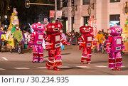 Купить «Grand parade in Barcelona», фото № 30234935, снято 5 января 2017 г. (c) Яков Филимонов / Фотобанк Лори