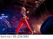 Купить «Выступление The Prodigy на фестивале Tuborg Greenfest», эксклюзивное фото № 30234943, снято 29 июня 2014 г. (c) Ольга Визави / Фотобанк Лори
