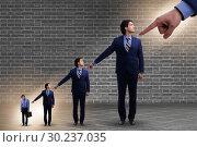Купить «Businessmen blaming each other for failures», фото № 30237035, снято 18 июля 2019 г. (c) Elnur / Фотобанк Лори