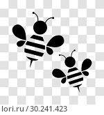 Купить «Honey bee icon», иллюстрация № 30241423 (c) Сергей Лаврентьев / Фотобанк Лори