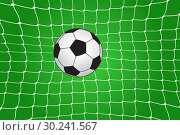 Купить «Soccer ball in the net», иллюстрация № 30241567 (c) Сергей Лаврентьев / Фотобанк Лори