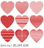 Купить «A set of Hearts for Valentine Day», иллюстрация № 30241639 (c) Сергей Лаврентьев / Фотобанк Лори